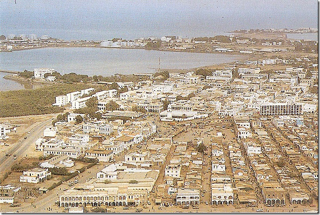 Djibouti Town From The Air, 1980s