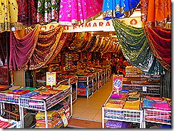 Colourful sari shop.