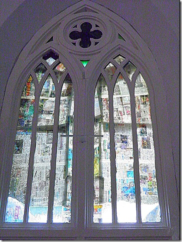 Low budget stained glass window?