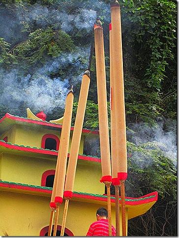 Giant Joss-sticks at the Datuk Temple.