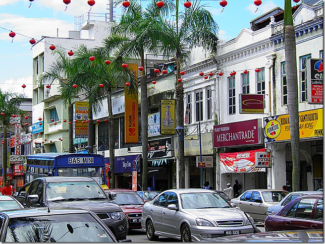 Kajang Town Centre decked out for Chinese New Year.
