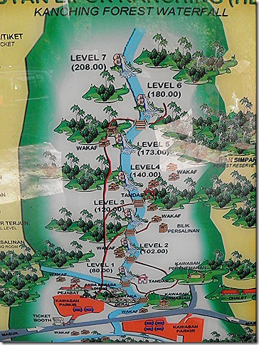 Map at the entrance to the park.