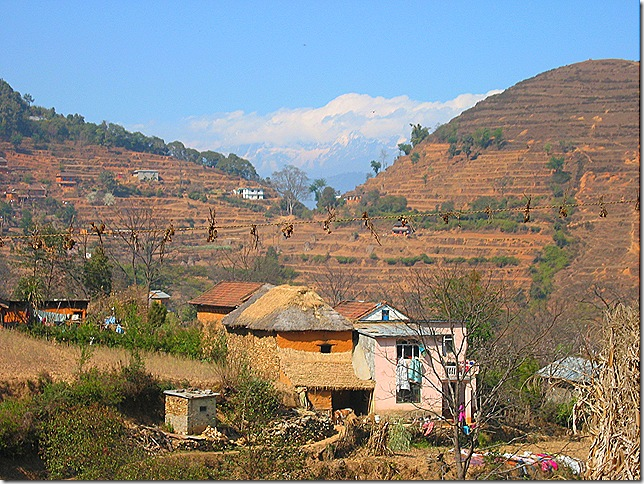 Countryside south of Kathmandu.