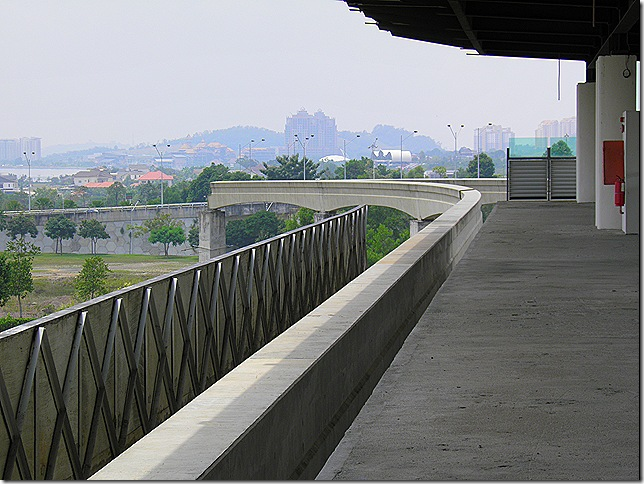 putrajaya monorail platform and track.
