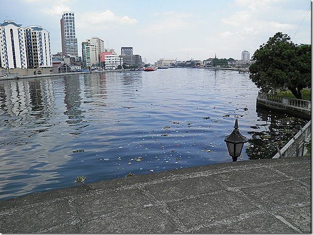 Pasig River looking almost blue?