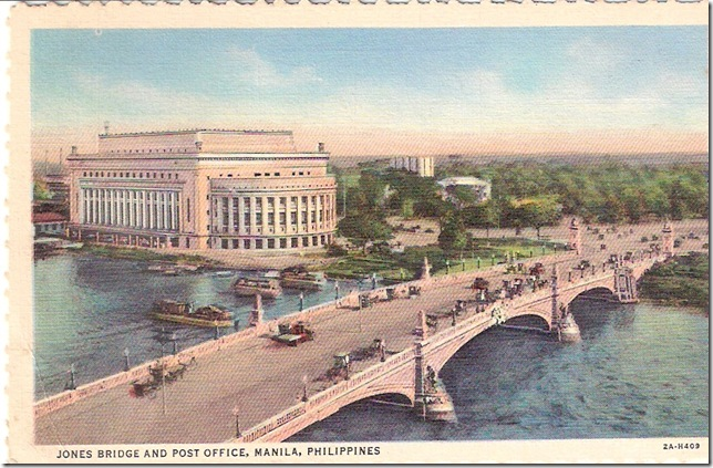 Jones Bridge and Post Office, Manila