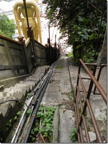 Route of former funicular railway.