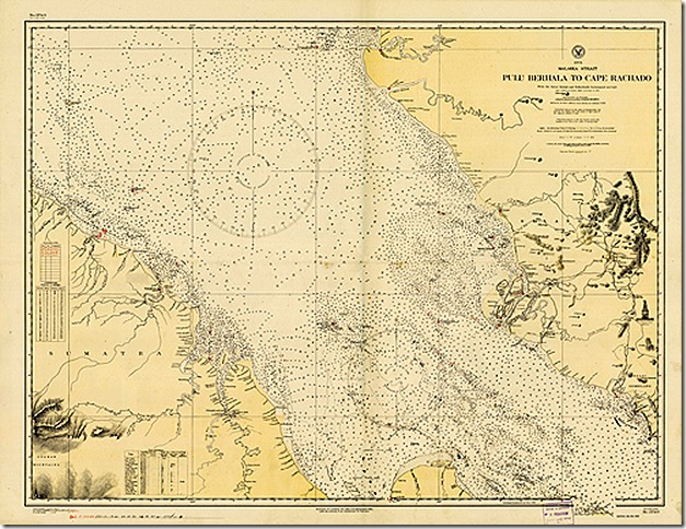 Old map of the Straits of Malacca