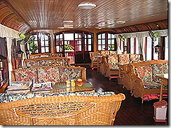 The lounge/dining/bar on board.