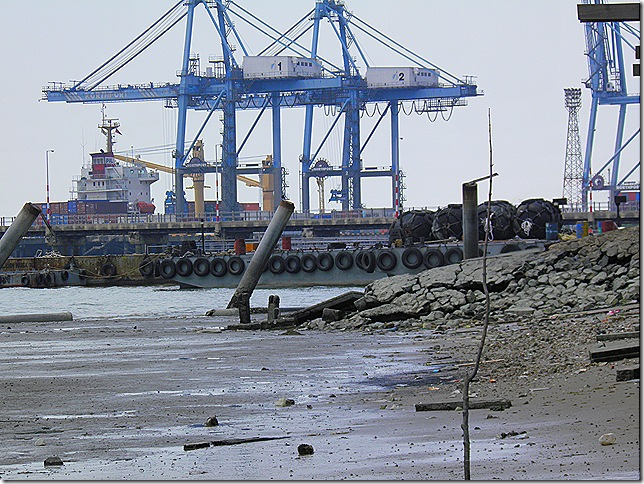 Container terminal at Port Klang.