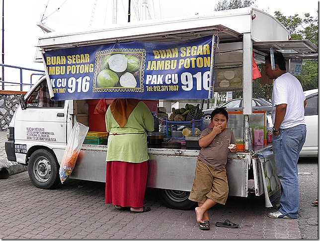 Guava juice seller at Tanjung Harapan.