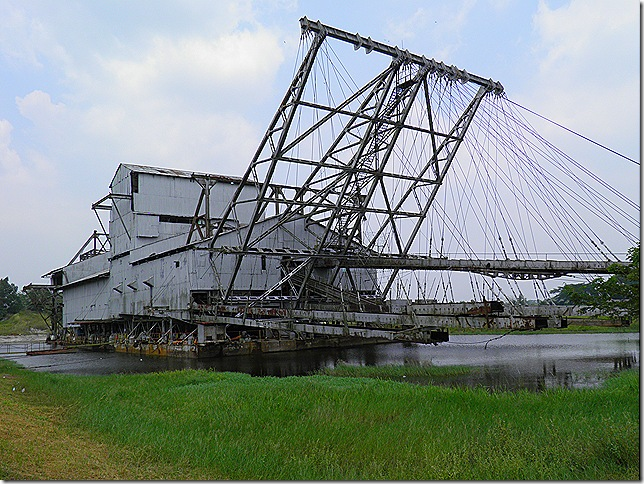 Tin Dredge at Tanjung Tualang