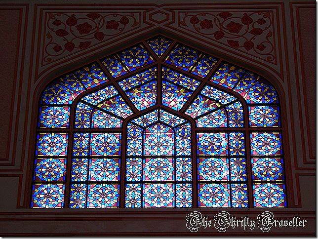 Stain glass windows at Putra Mosque.