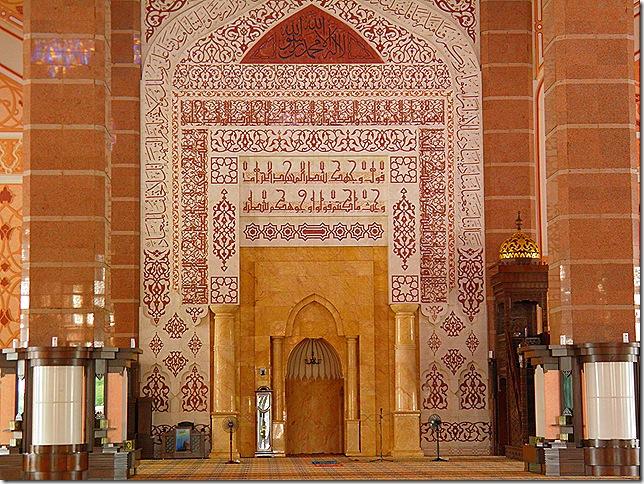 The qibla wall.