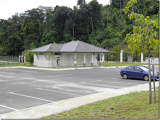 Visitors' car park and toilets.
