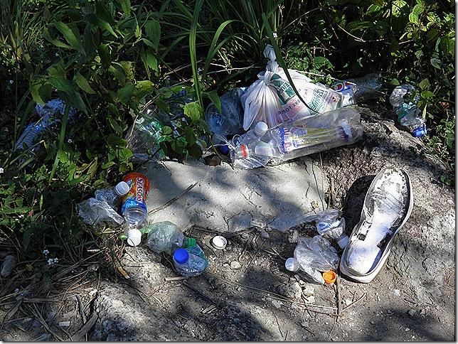 Please take your rubbish home.