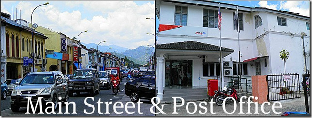Bentong's Loke Yew Street and the Post Office