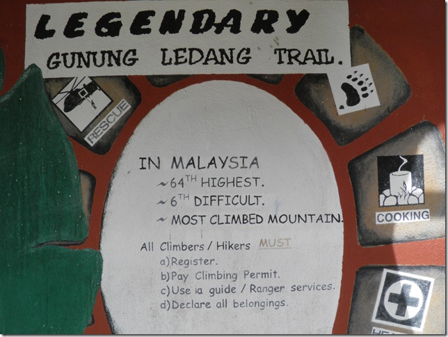 You have to hire a guide to climb Gunung Ledang