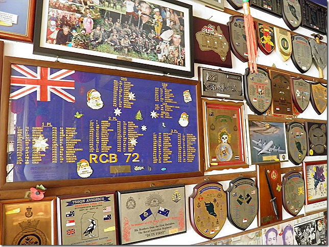 Mementos from Auzzie military units.