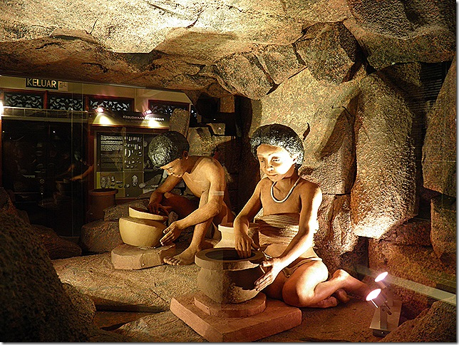 Cave dwellers at Kota Kayang Museum