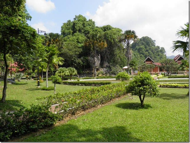 Pretty gardens at Kota Kayang Museum