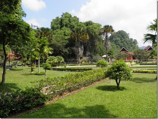 Pretty gardens at Kota Kayang Museum
