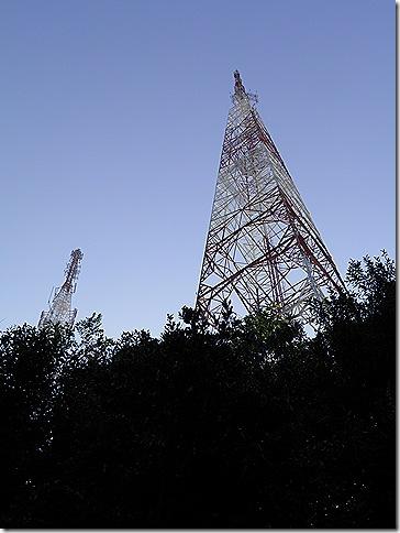 Communications towers on Bukit Besar, Kuala Terengganu