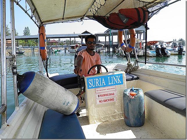Speed boat to Kapas Island