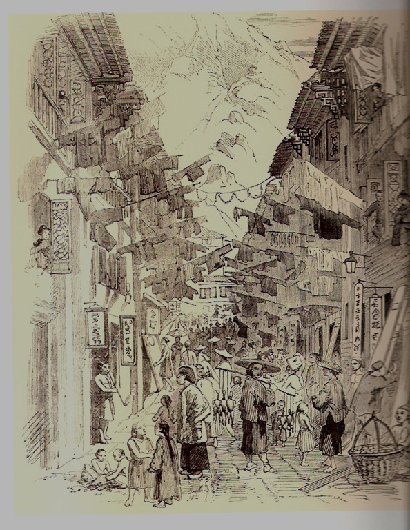 Gillman's Bazaar Hong Kong - Illustrated London News 1858