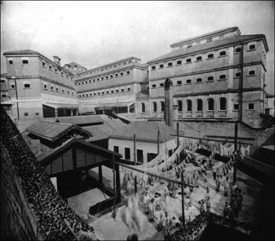 Victoria Gaol around 1895 showing laundry yard.