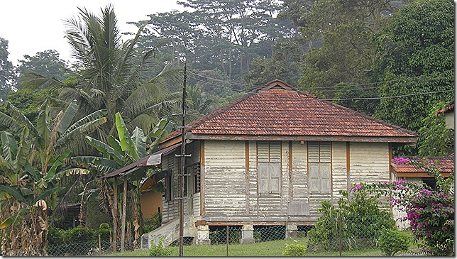 Old wooden house at Pusat Flora Cheras