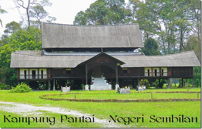 Traditional Minangkabau style house in Pantai