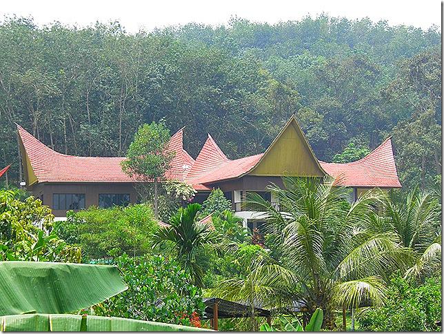 Buffalo horn roof at Kampung Bukit Kubot.