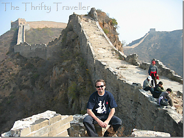 Thrifty Traveller at the Great Wall 2004