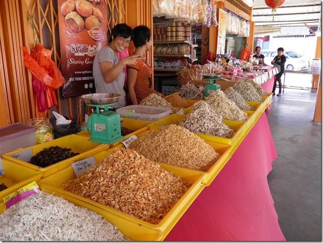 Dried seafood at Kuala Selangor jetty