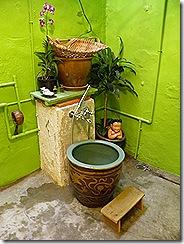 Japanese style bathing