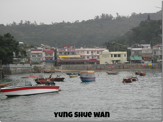Yung Shue Wan seen from the ferry jetty.