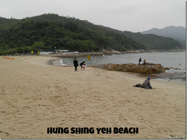 Too cold for swimming at Hung Shing Yeh Beach