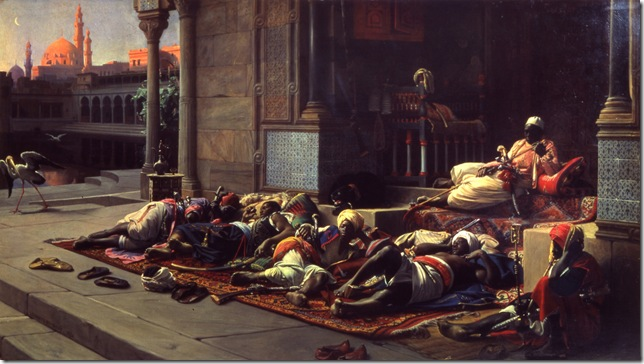 Eunuchs at the Harem by Lecomte du Nouy
