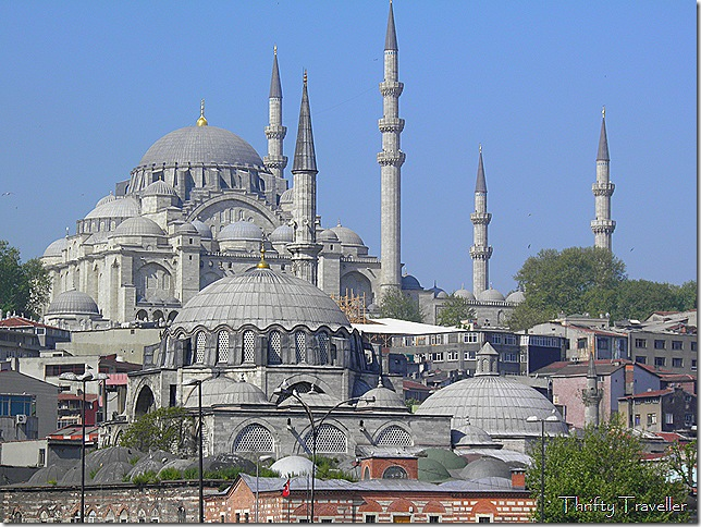 Rustem Pasha Mosque (foreground) with Suleymaniye Mosque behind.