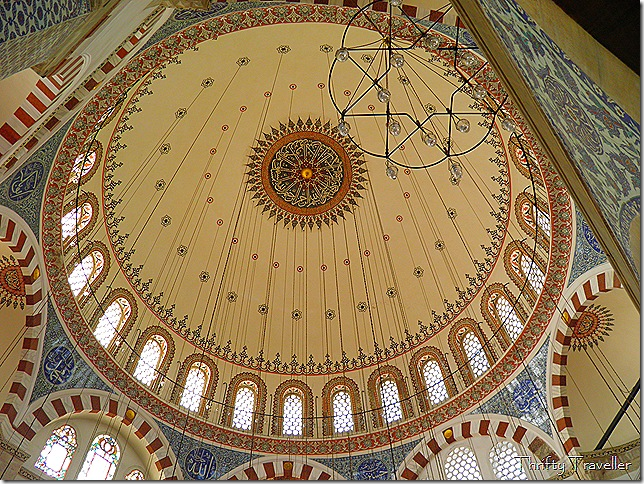 Dome interior at Rustem Pasha