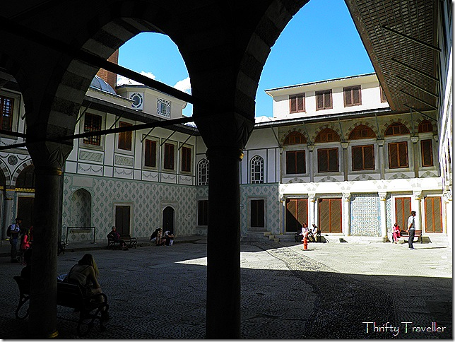 Sunny courtyard in the harem.