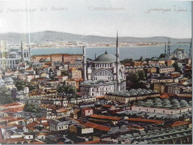 Vintage Postcard of Constantinople Bazaars