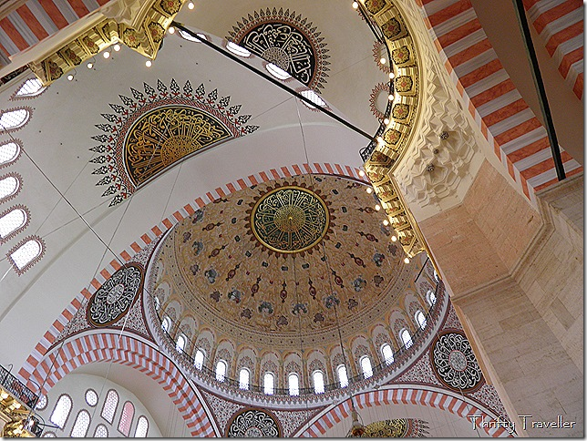 Main dome interior of Suleymaniye Mosque