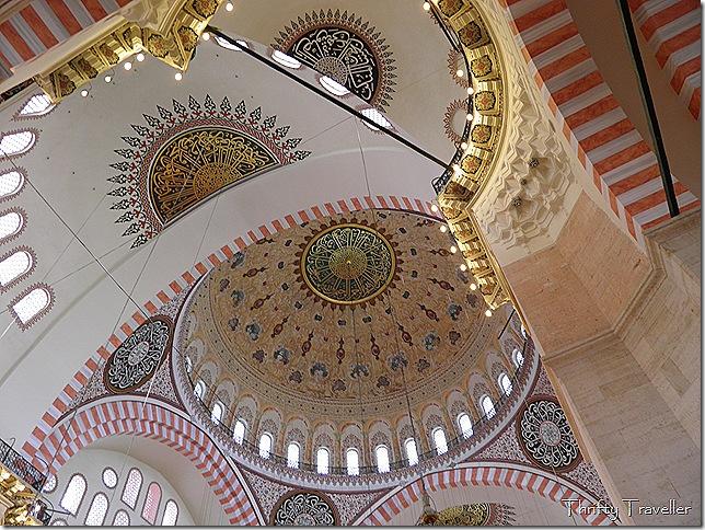 Main dome interior of Suleymaniye Mosque