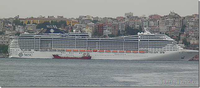 Monster cruise liner at Istanbul