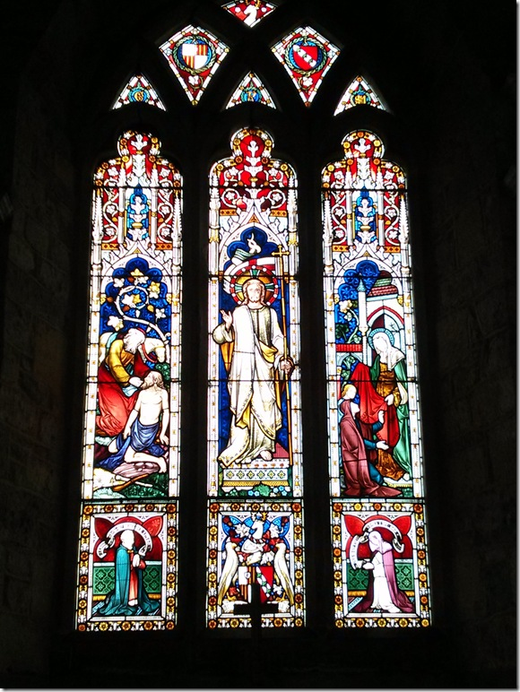 Some of Fawsley Hall's exquisite stained glass