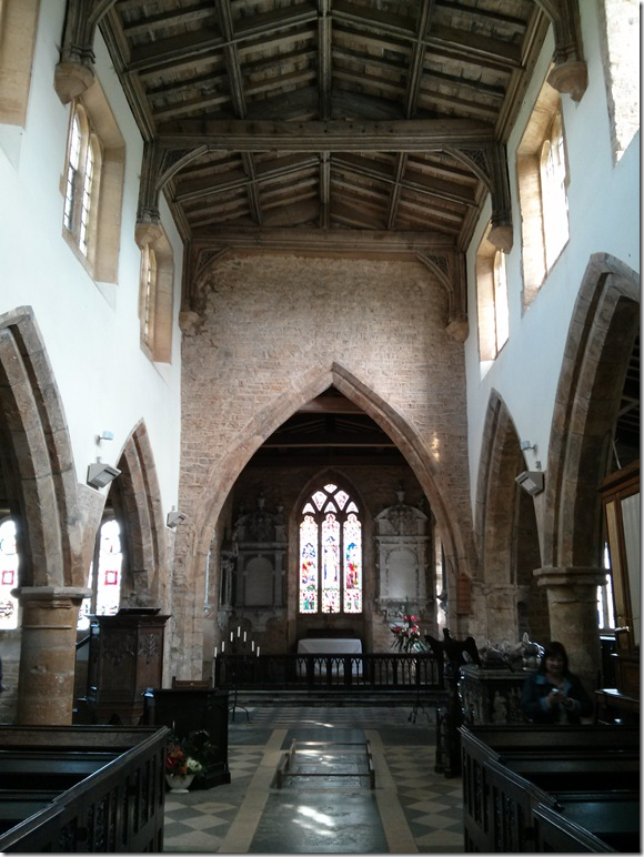 Interior of Fawsley Church