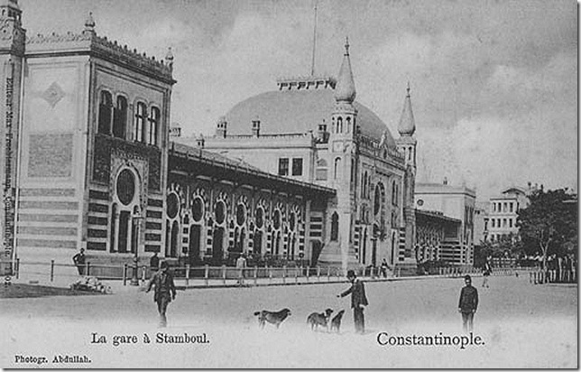 Old postcard of Sirkeci Station