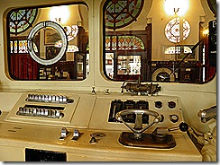 8027 electric multiple unit train driver's cab at Sirkeci Railway Museum